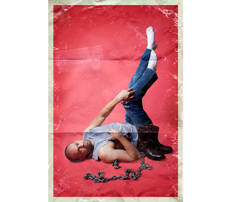 men in pinup poses male pinup calendar rion sabean 13 Men Ups: Men in Stereotypical Pin Up Poses