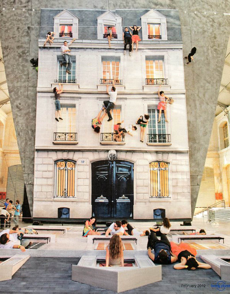 mirrored building art installation interactive france leandro erlich 1 The Swimming Pool Illusion by Leandro Erlich