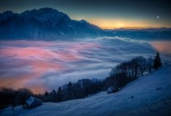 Picture of the Day: Moon and Venus Over Switzerland