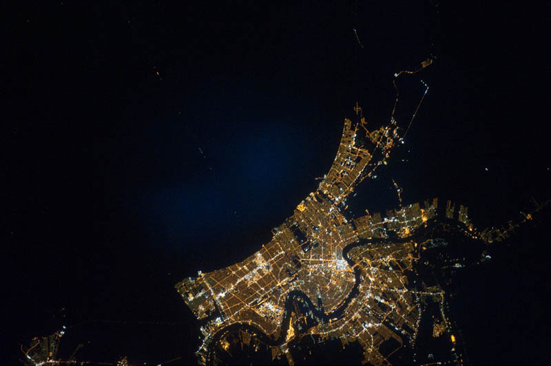 new orleans at night from space nasa Earth at Night: 30 Photos from Space