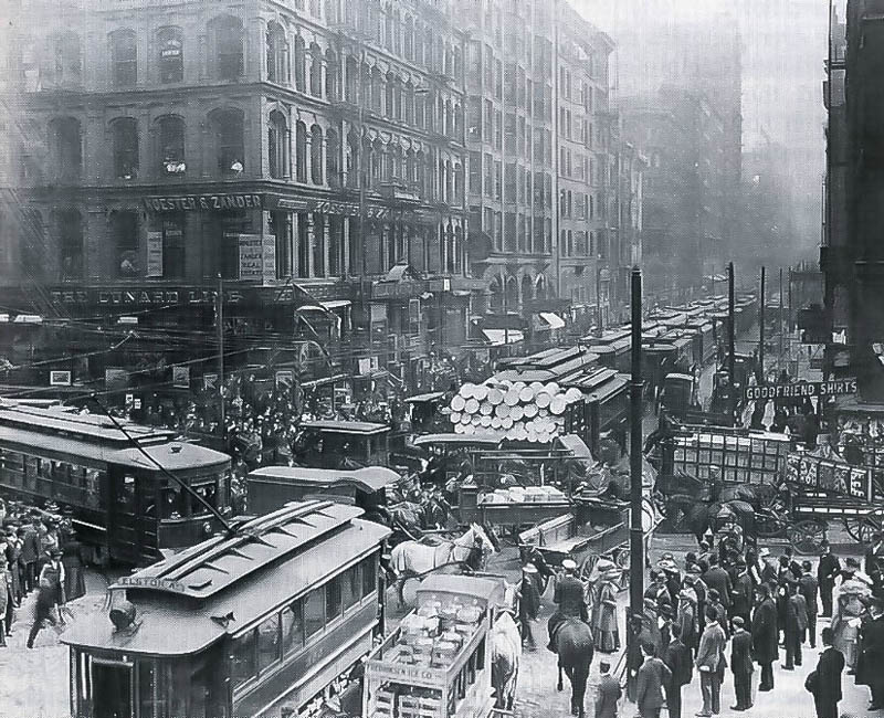 rush hour chicaco 1909 Picture of the Day: Chicago Rush Hour, 1909