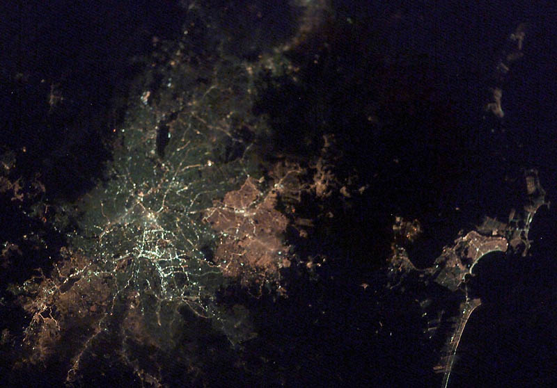 sao paulo brazil at night from space nasa Earth at Night: 30 Photos from Space