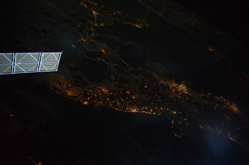 southern italy at night from space nasa Earth at Night: 30 Photos from Space