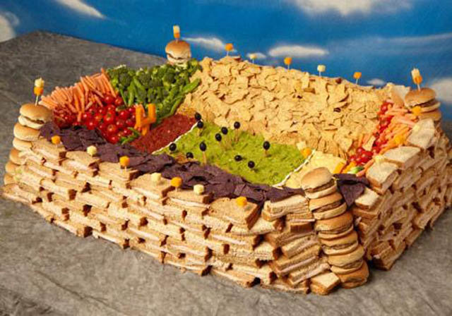 superbowl snack stadiums 33 The Best Super Bowl Snack Stadiums Ever