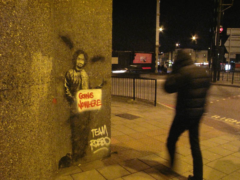 team robbo going nowhere The Banksy vs Robbo War in Pictures
