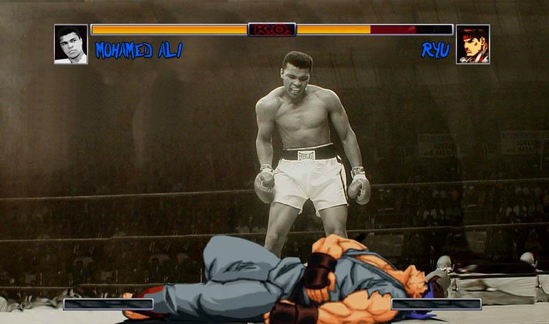 ali vs ryu street fighter street art Picture of the Day: Ali vs Ryu