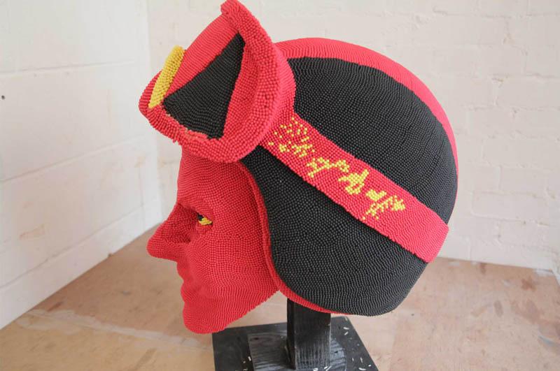 devil head sculpture made of matches set ablaze david mach 11 A Devil Sculpture Made from Matches Gets Set Ablaze