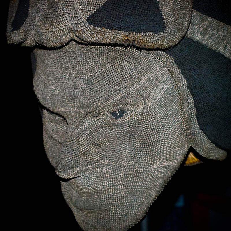 devil head sculpture made of matches set ablaze david mach 8 A Devil Sculpture Made from Matches Gets Set Ablaze