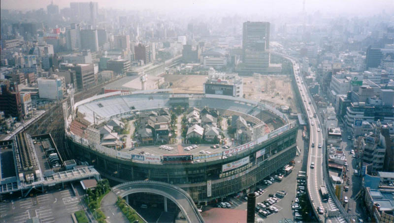 houses buildings living inside osaka stadium japan 2 Picture of the Day: Osaka Stadium Redux