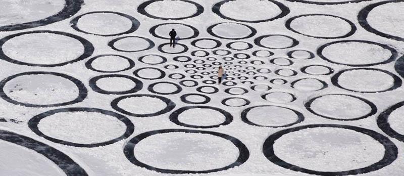 jim denevan giant ice art circles siberia 4 The Colossal Land Art of Jim Denevan [30 pics]