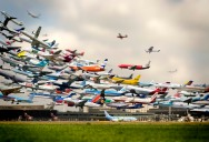 Picture of the Day: Striking Artistry of Multiple Takeoffs at Hannover Airport