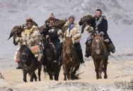 Picture of the Day: Nomads Hunting with Golden Eagles in Mongolia