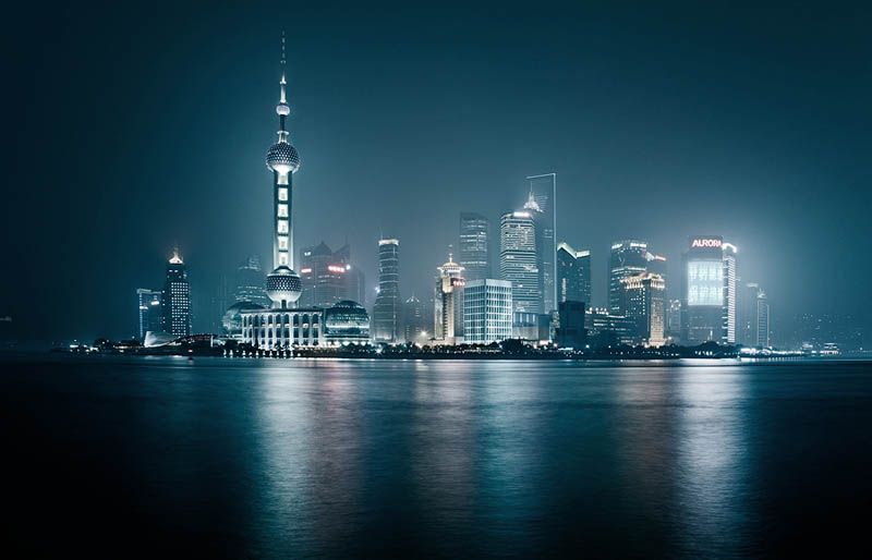 shanghai skyline at night Picture of the Day: Shanghai Skyline at Night