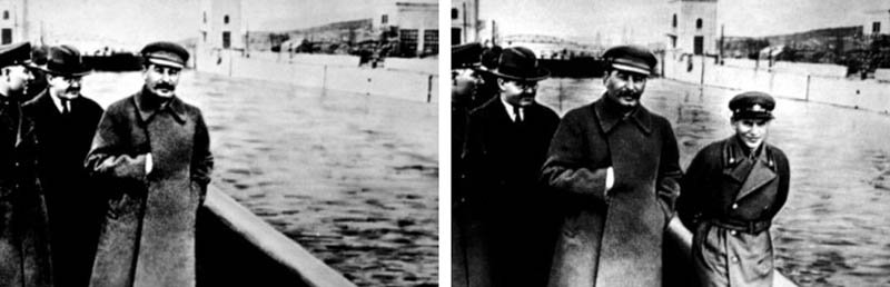 stalin photoshop doctored airbrushed out enemy 12 Historic Photographs That Were Manipulated