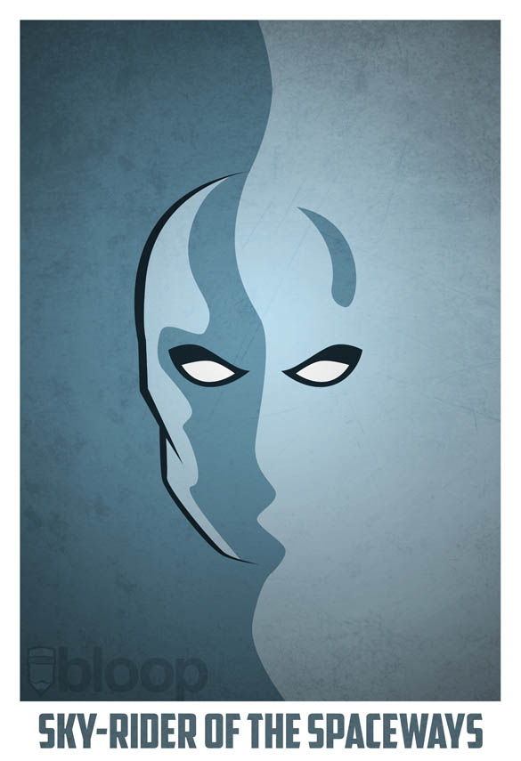 superheroes and villains minimal art posters by bloop 1 Minimalist Superheroes and Villains Posters