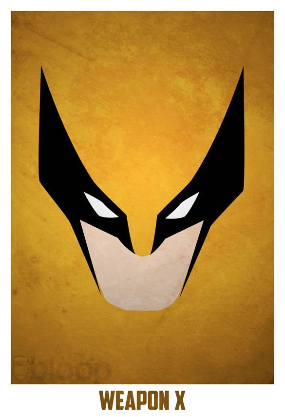 superheroes and villains minimal art posters by bloop 10 Minimalist Superheroes and Villains Posters