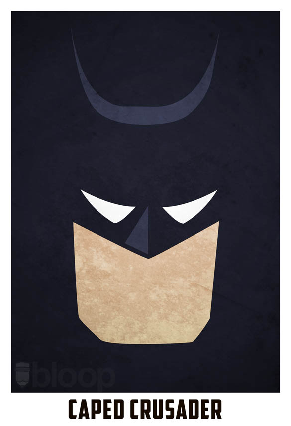 superheroes and villains minimal art posters by bloop 11 Minimalist Superheroes and Villains Posters