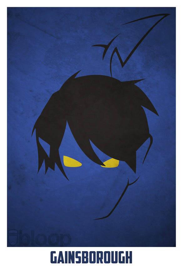 superheroes and villains minimal art posters by bloop 12 Minimalist Superheroes and Villains Posters