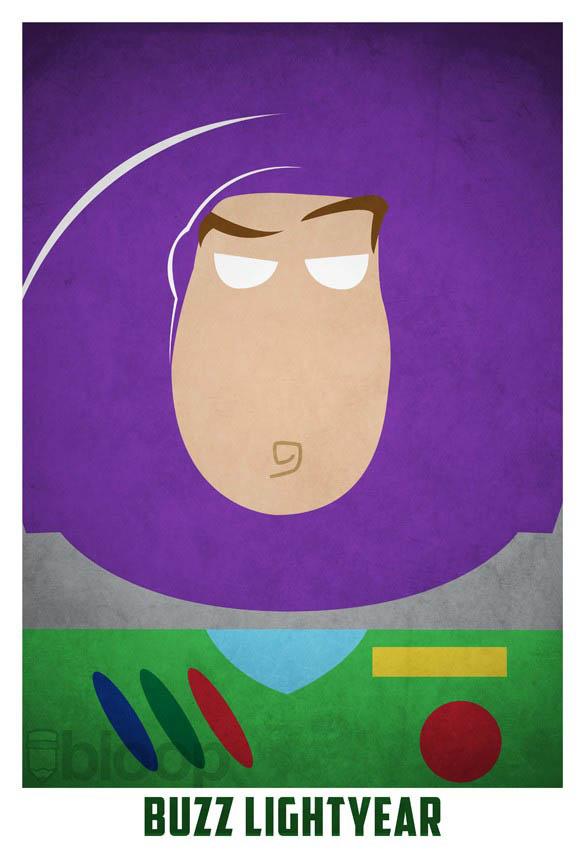superheroes and villains minimal art posters by bloop 14 Minimalist Superheroes and Villains Posters