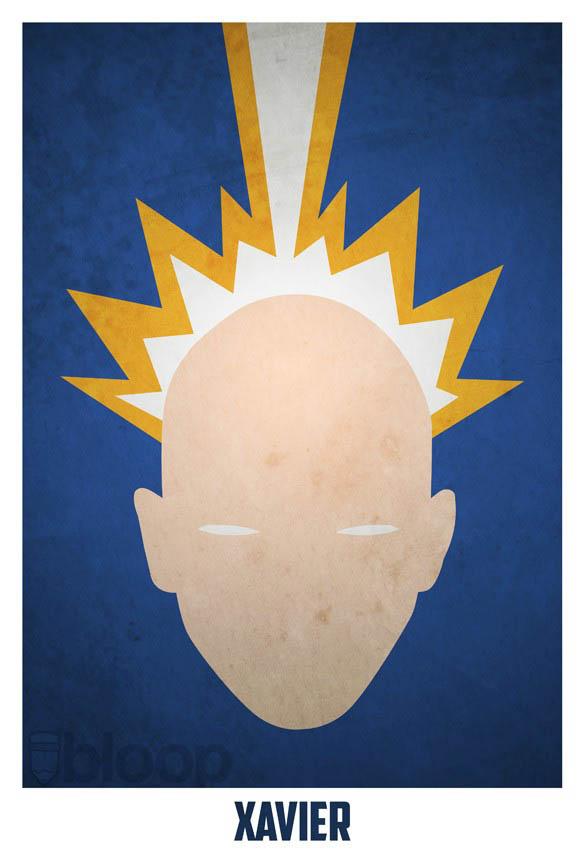 superheroes and villains minimal art posters by bloop 15 Minimalist Superheroes and Villains Posters