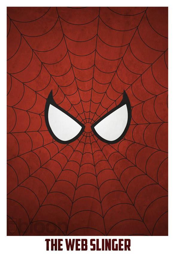 superheroes and villains minimal art posters by bloop 17 Minimalist Superheroes and Villains Posters
