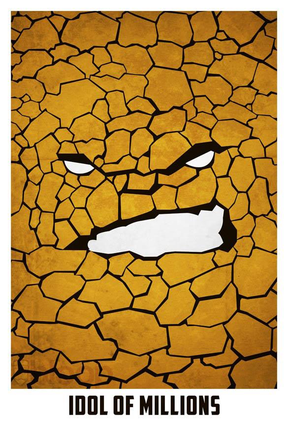 superheroes and villains minimal art posters by bloop 21 Minimalist Superheroes and Villains Posters