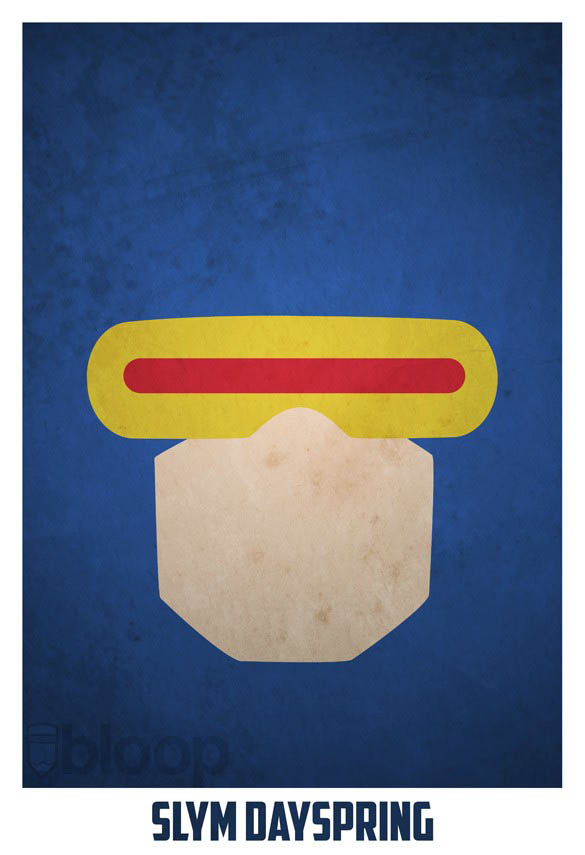 superheroes and villains minimal art posters by bloop 23 Minimalist Superheroes and Villains Posters