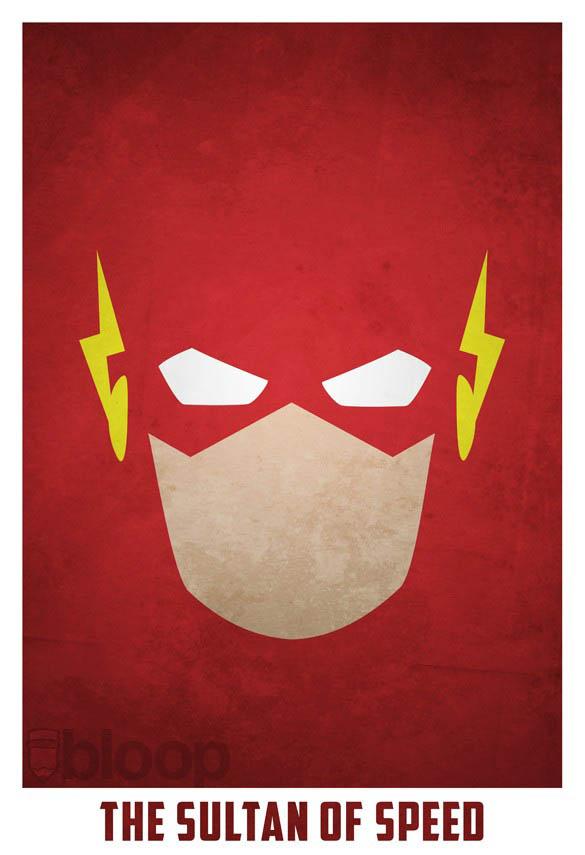 superheroes and villains minimal art posters by bloop 25 Minimalist Superheroes and Villains Posters