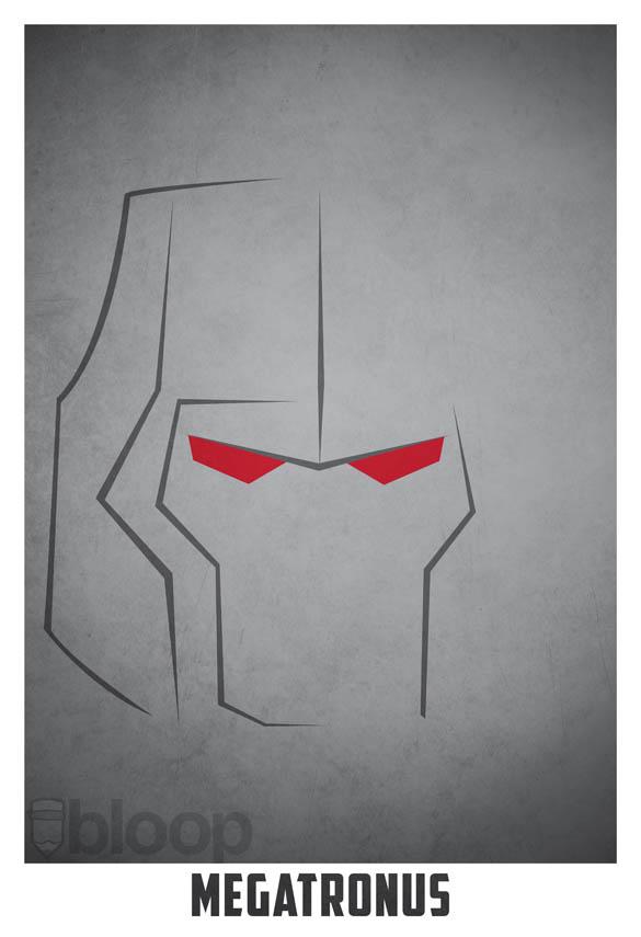 superheroes and villains minimal art posters by bloop 26 Minimalist Superheroes and Villains Posters
