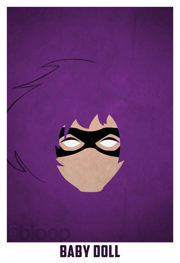 superheroes and villains minimal art posters by bloop 31 Minimalist Superheroes and Villains Posters