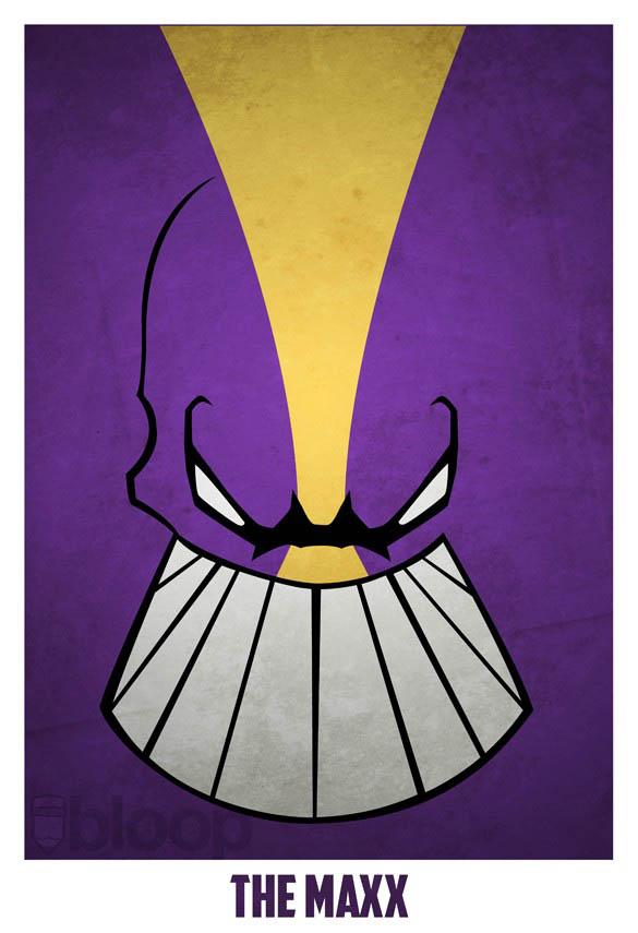 superheroes and villains minimal art posters by bloop 32 Minimalist Superheroes and Villains Posters