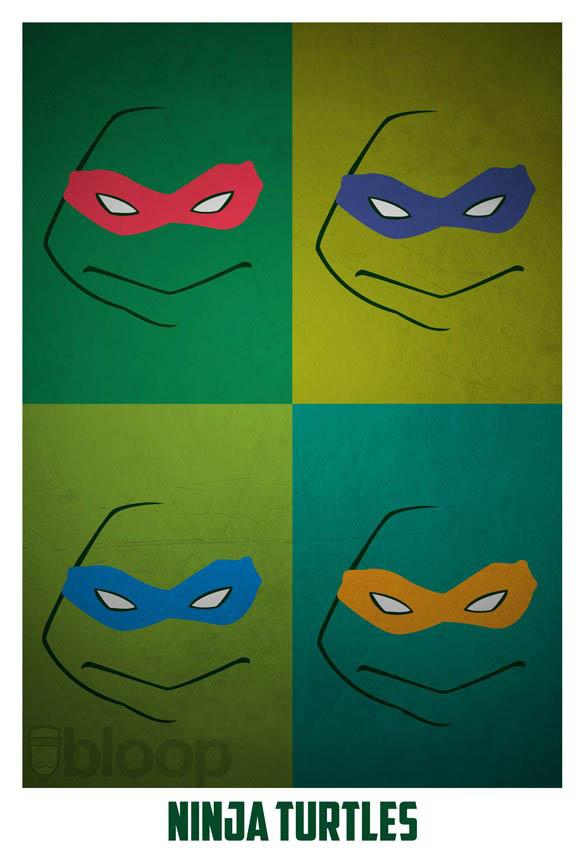 superheroes and villains minimal art posters by bloop 34 Minimalist Superheroes and Villains Posters