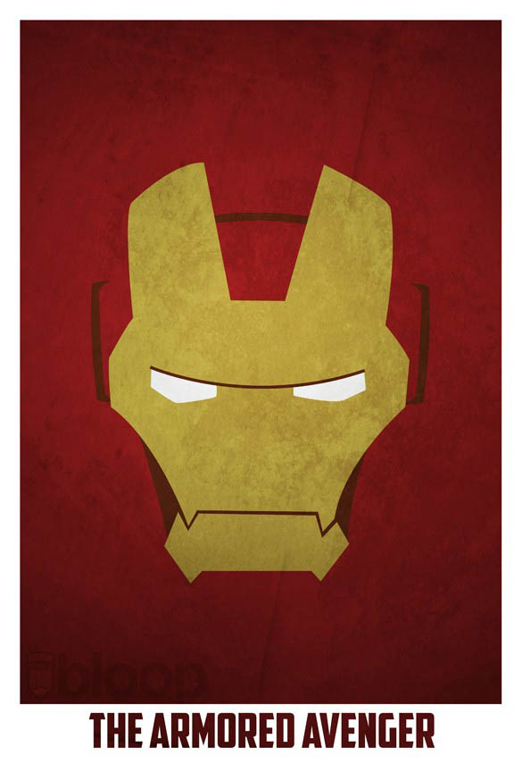 superheroes and villains minimal art posters by bloop 36 Minimalist Superheroes and Villains Posters