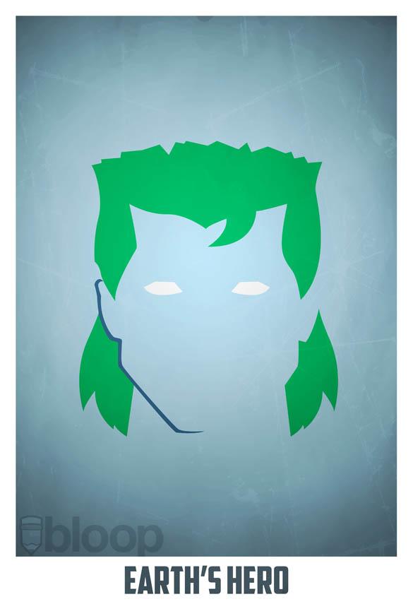 superheroes and villains minimal art posters by bloop 37 Minimalist Superheroes and Villains Posters