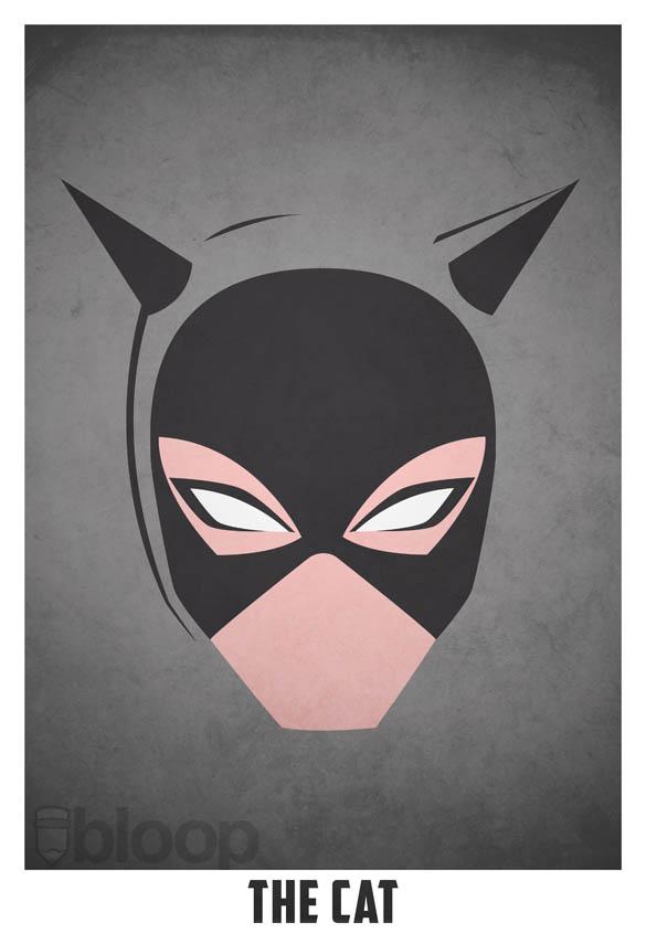 superheroes and villains minimal art posters by bloop 7 Minimalist Superheroes and Villains Posters
