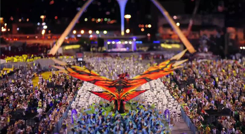 tilt shift rio carnival 1 Tilt Shift Carnival in Rio de Janeiro