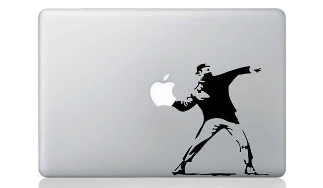 banksy macbook decal sticker 1 50 Creative MacBook Decals and Stickers