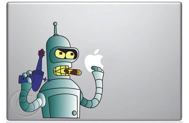 bender macbook decal sticker 50 Creative MacBook Decals and Stickers