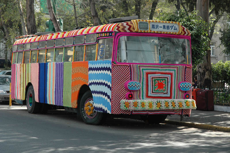 bus yarn bombing The Top 100 Pictures of the Day for 2012