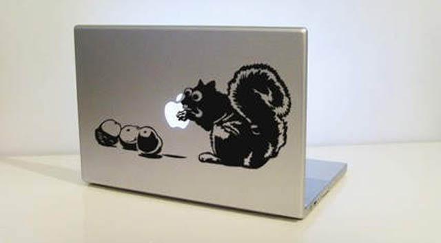 chipmunk 2 macbook decal sticker 50 Creative MacBook Decals and Stickers