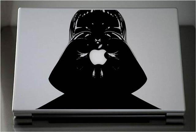 darth vader macbook decal sticker 1 50 Creative MacBook Decals and Stickers