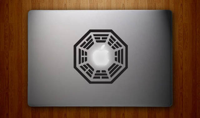 dharma lost macbook decal sticker 50 Creative MacBook Decals and Stickers