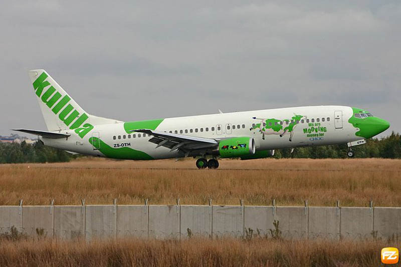 funny airline fleet paint job green kulula 4 This Airline has the Best Fleet of Planes Ever!