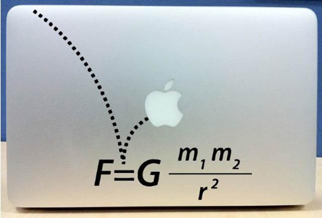 gravity macbook decal sticker 50 Creative MacBook Decals and Stickers