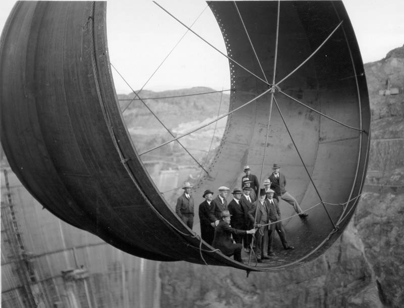 hanging out high above hoover dam vintage penstock Picture of the Day: Hanging Out High Above the Hoover Dam