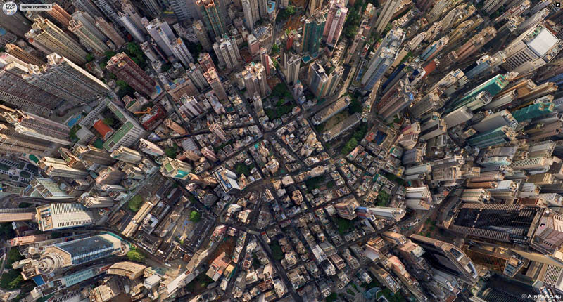 hong kong 360 panorama aerial from above 2 Top Ten 360 Panoramas of Cities Around the World