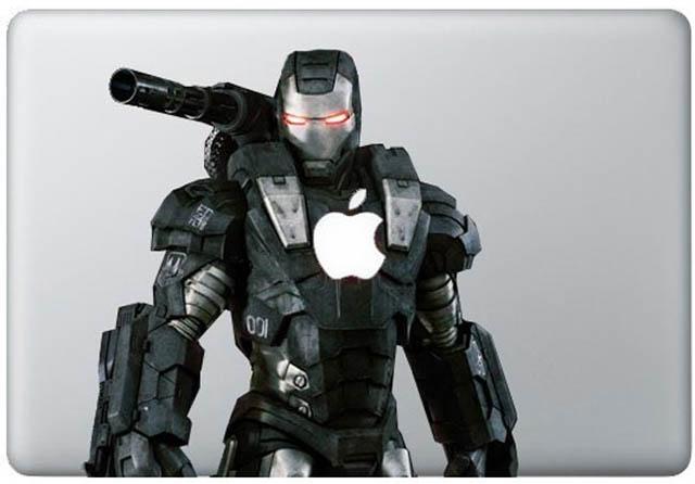 iron man macbook decal sticker 2 50 Creative MacBook Decals and Stickers