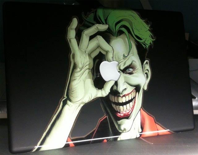 joker macbook decal sticker 1 50 Creative MacBook Decals and Stickers