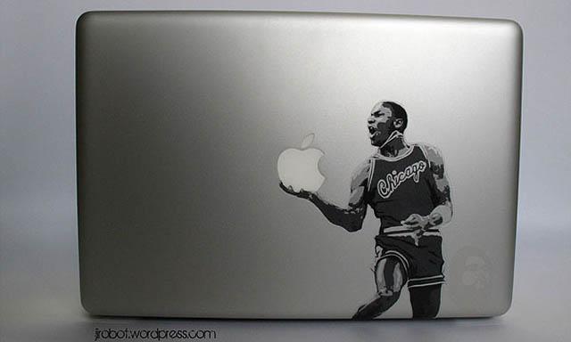 jordan macbook decal sticker 50 Creative MacBook Decals and Stickers