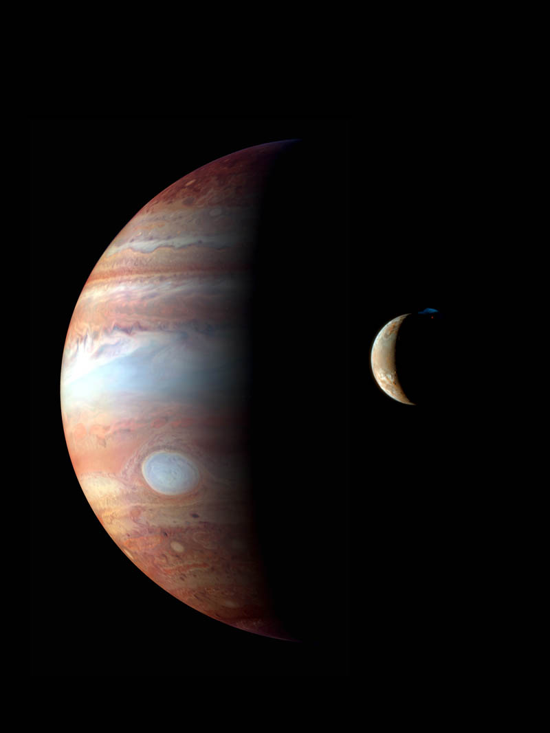 jupiter and io moon with volcanic eruption nasa Picture of the Day: An Eruption on Io as Jupiter Looms